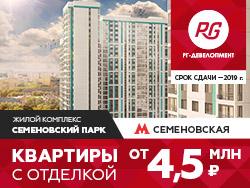 ЖК «Семеновский парк» Квартиры с отделкой в Москве от 4,5 млн
